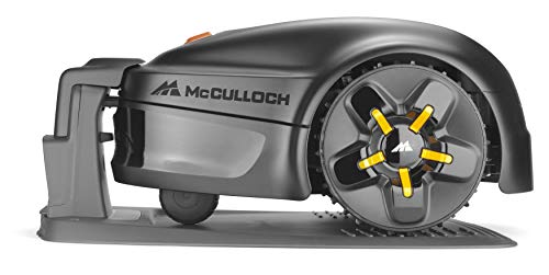 McCulloch ROB S600 Robotic Lawn Mower – Cuts up to 600 sq m, Manicured Lawn, Tackles 35 Percent Slop Gradients, Lawn Growth Sensors, Simple Set Up, Intuitive Keypad