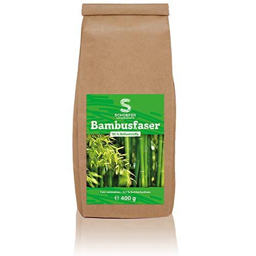 Bambusfasern - Vegan - Glutenfrei - 0,1% Kohlenhydrate zum Backen und Bemehlen für Low Carb-Küche- Bambusmehl 400 g