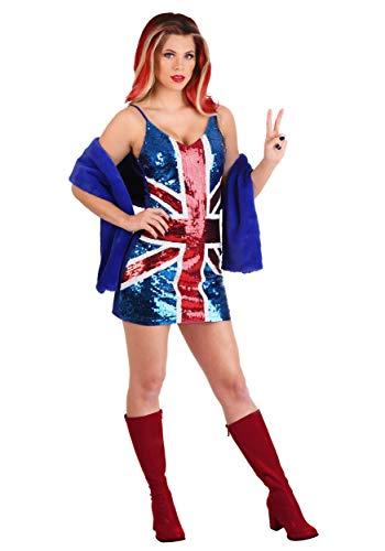 British Girl Power Popstar - Disfraz para mujer - Azul - S