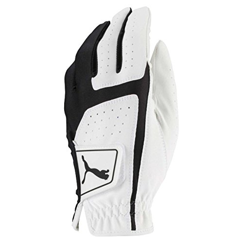 Puma Golf 2018 Men's Flexlite Golf Glove (Bright White-Puma Black, Med/Large, Left Hand)