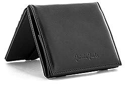 JAIMIE JACOBS Flap Boy - Das Original - Magic Wallet mit Münzfach und RFID-Schutz Magischer Geldbeutel magisches Portmonaie Brieftasche mit Kleingeldfach Herren echtes Leder (Schwarz)