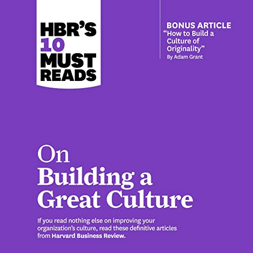 HBRs 10 Must Reads on Building a Great Culture cover art