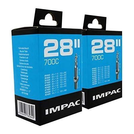 "Impac 2pk Cycle Tubes 28"" / 700c 28-45c (28-47/622-635) Presta Valve - Twin Pack"