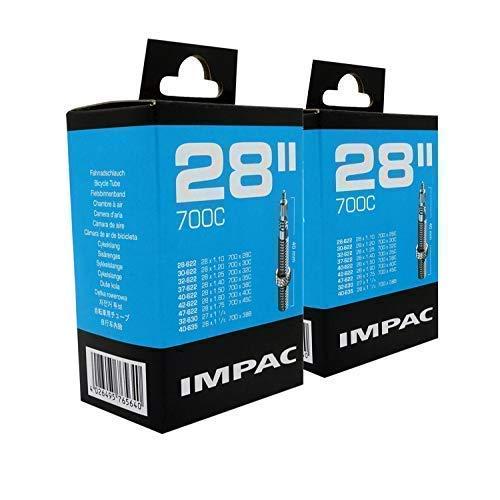 Impac 2pk Cycle Tubes 28' / 700c 28-45c (28-47/622-635) Presta Valve - Twin Pack