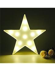 Schattige led-nachtlampjes, sfeerlicht, bureaulamp, babykamer, kinderkamer, decoratie, geschenken (ster, wit)