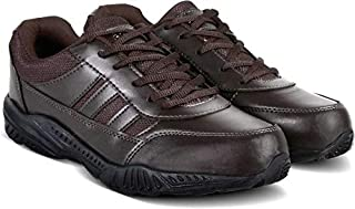Action Shoes Synergy Men's Brown Synthetic School Shoes - Uk/India 6