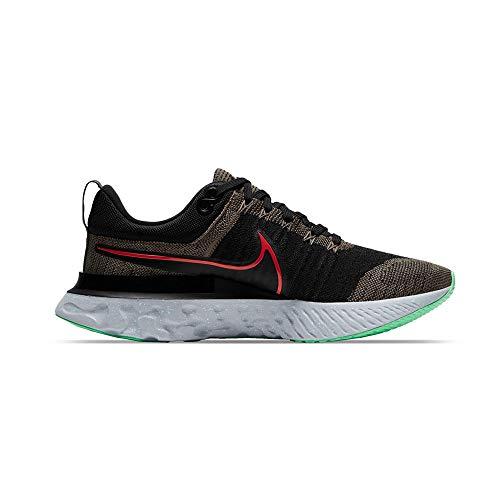 Nike Herren React Infinity Run FK 2 Laufschuh, Ridgerock Chile Red Black Green Glow Photon Dust, 44 EU