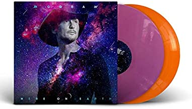 Here On Earth - Exclusive Limited Edition Orange & Purple Colored 2x Vinyl LP With SIGNED Cover By Tim Mcgraw