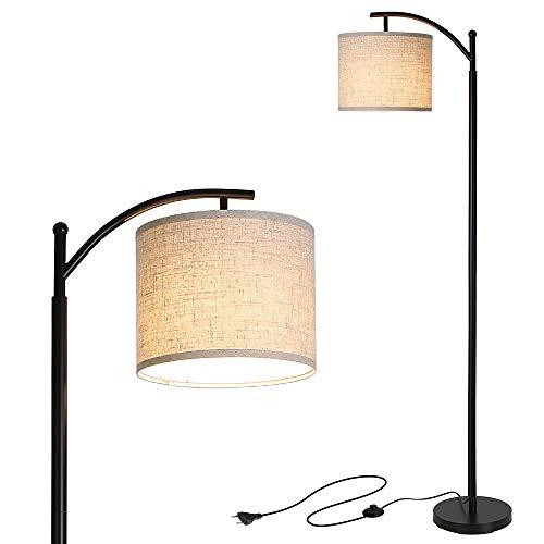 Lámpara de Pie, Tomshine Lámpara de Pie Salon LED con Pantalla Colgante,E27 Enchufe Desmontable,para Salón, Dormitorio, Oficina(9W Luz Cálida LED Bombilla Incluida)