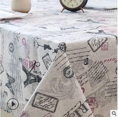 Mantel Minimalista Beige, pequeño y Fresco, Apto para mesas de jardín y hoteles 140x200cm 01