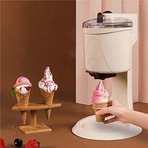 Máquina de fabricante de helados caseros Máquina de fruta congelada Máquina de sillín totalmente automática Mini fruta Servicio Congelador Contenedor Yogur Sorbe DIY Soft-Stefer Sherbet para niños