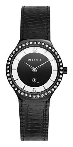 Orphelia Damen-Armbanduhr Glamour Analog Quarz Leder