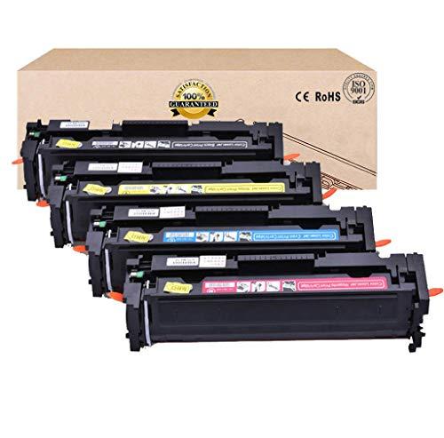 Compatible con CF410A CF411A CF412A CF413A Cartucho de tóner para HP Color Laserjet Pro M452dw / 452Dn / 452Nw / M377dw / M477fnw / M477fdn / M477fdw,4colorset