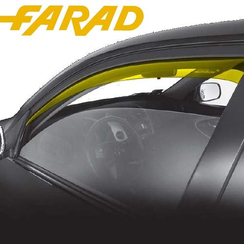 12.l24 Set Déflecteurs D'air Farad Déflecteurs Coupe-Vent Avant Toyota Corolla Verso < 04 5P spécifiques Anti Pluie Vent