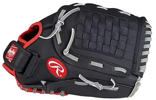 RAWLINGS PL120SB 12 Inch | Baseball Handschuh | Linkshändig Fangen | Infield Outfield | Schwarz, Rot, Grau |