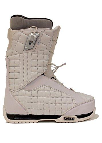 Celsius Belmont Women's Snowboard Boots (Mid Stiff, Ozone Lace), White, 5
