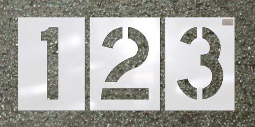 CH Hanson 12 Piece Number Kit - Pavement Stencil - Font Size 12' X 9'