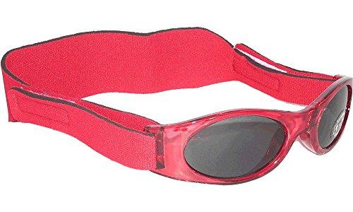 Edz Kidz Sonnenbrille für Babys unter 2 Jahren - Sunnyz - Mit Kopfband! (rot)