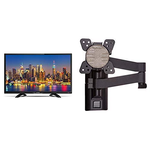 DYON Live 24 Pro 60 cm Fernseher (Full-HD, Triple Tuner, DVB-T2 H.265 /HEVC) & AmazonBasics - Bewegliche TV-Wandhalterung, für Fernseher mit Einer Bildschirmdiagonale von 12-39 Zoll / 30,5-99,1cm