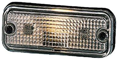HELLA 2PF 961 167-021 Begrenzungsleuchte - C5W - 24V - Lichtscheibenfarbe: glasklar - Einbau - Einbauort: links/rechts