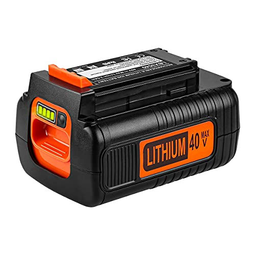 Powilling Upgraded Replacement 3.5Ah 40 Volt MAX Battery for Black and Decker 40V Battery LBX2040 LBXR36 LBXR2036 LST540 LCS1240 LBX1540 LST136W Black+Decker 40-Volt Lithium Battery