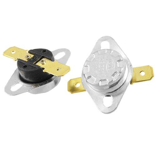 sourcing map 2PCS KSD301105C, N.C Temperatur Control Switch Thermostat Gold Ton Terminals de
