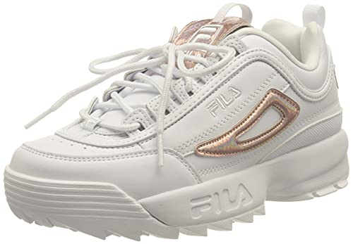 FILA Disruptor F wmn Sneaker Donna, Bianco (White/Iridescent Snake), 39 EU
