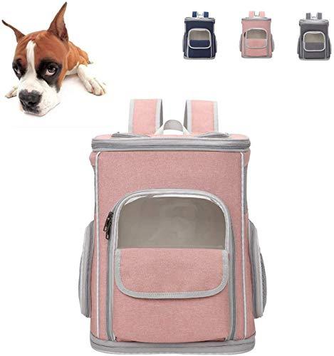 Transportin gato Morral del portador, portador del animal doméstico plegable Mochila for gatos y perros pequeños, perro portador del morral con correa de seguridad ventilado Diseño Interior, Puppy por