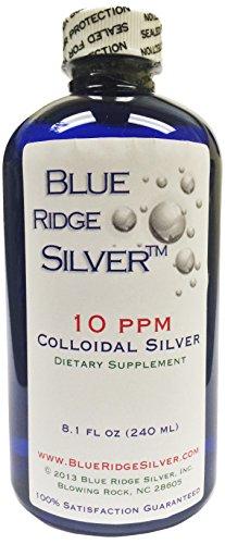 Blue Ridge Silver 10 ppm 8 oz Colloidal Silver Natural Immune Support Health Supplement