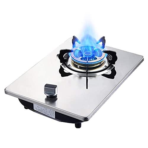 YXYY Gasspis svart härdat glas enkel gasintervall, roterande brytare med barnlås, lämplig för hemskrivbord/inbyggd gas flytande gasspis [Energiklass A]