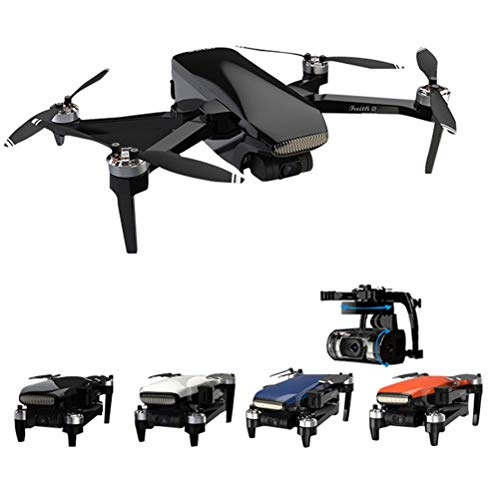 WXFXBKJ HD GPS Drones,2021 New Drone 4K GPS HD Camera 3-Axis Gimbal Quadcopter Professional 35min Flight RC 5KM Flight Distance Selfie Drone (Color : 3B 4K White)