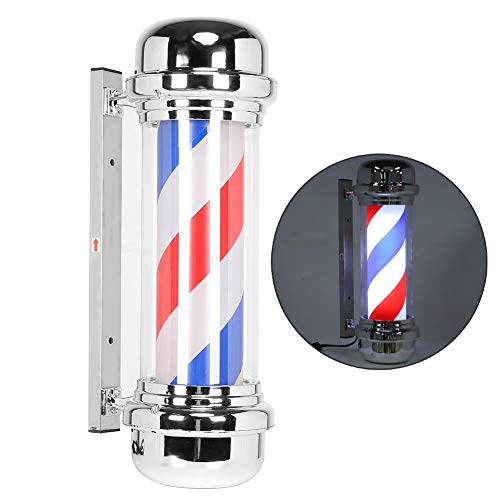 Barbershop Draaibare lichtmast, 28 inch Hair Salon Open Sign Rood Wit Blauw Spinning Light Stripes Waterdichte wandlamp LED Downlight voor veranda verlichting EU.