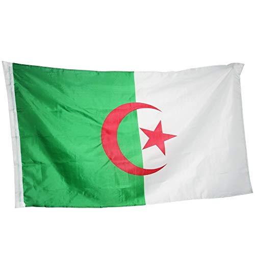 90 X 150cm Algerijnse Nationale Vlag, Vliegende Algerijnse Nationale Vlag Banner, Kantoor, Gebeurtenis, Parade, Festival, Huisdecoratie. (Size : M)