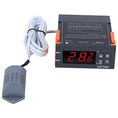 DyAn Controlador De Temperatura Y Humedad Pantalla Digital Inteligente LCD Grande Y Transparente Mini Ligero 110v-220V