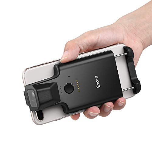 Eyoyo 2D Bluetooth Barcode Scanner, Portable Back Clip Wireless 1D 2D QR Barcode Reader PDF417 Data Matrix Code Image Scanning Compatible with iPhone, Android, iOS