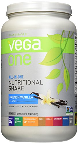 Vega One All-in-One Nutritional Shake French Vanilla 29.2 Ounce - Plant Based Vegan Protein Powder, Non Dairy, Gluten Free, Non GMO