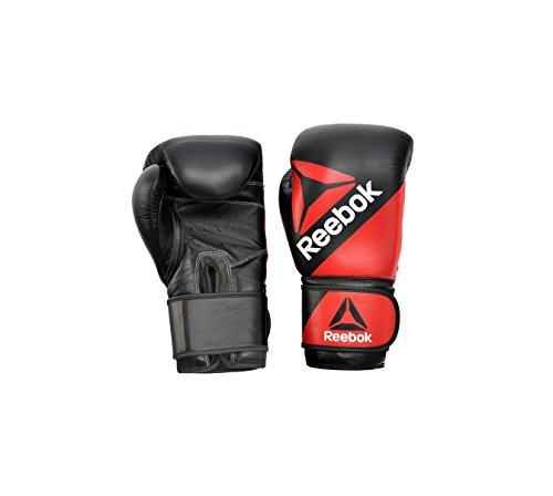 Reebok RSCB-10200RDBK Combat Leather Training Gloves, Red/Black, 16 oz