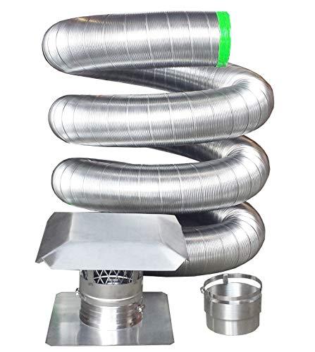 Rockford Chimney Supply RockFlex Stainless Steel Flexible Chimney Liner Insert Kit, 6 Inch x 25 Feet