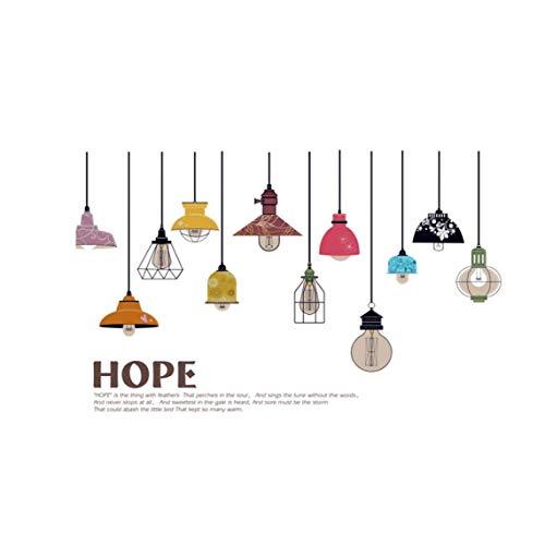Grifri Bunte Decken-Lampen-Wand-Aufkleber Handing Kronleuchter Wandtattoo Removable DIY Wandaufkleber für Wohnzimmer-Büro-Dekor 1set Wohnzimmer Ornament