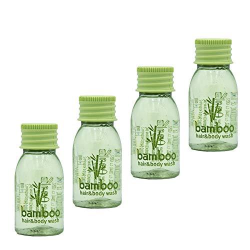 Awek.eu 100 Stück Hotel Einweg Shampoo&Duschgel bath&shower gel 2in1 Flasche 20ml Bamboo Serie