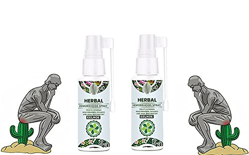 Natural Herbal Hemorrhoids Spray,100% Natural Formula,Fast Relief Of Hemorrhoids And Anal Fissures,Alleviate Pain,Itching, Burning,For Internal & External Treatment,30ML (2pcs)