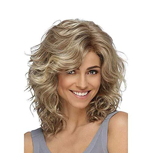 Kurze wellige lockige Bob Cosplay Perücken blonde Perücken für Frauen Hitzebeständige Synthetik für Frauen