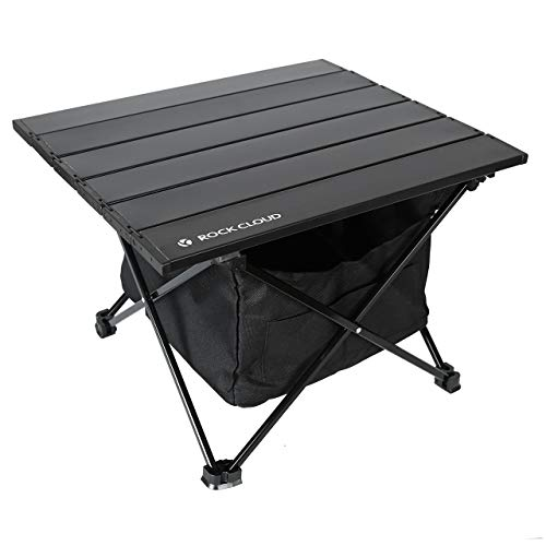 Rock Cloud Portable Camping Table Ultralight Aluminum Camp Table with Storage Bag Folding Beach Table for Camping Hiking Backpacking Outdoor Picnic