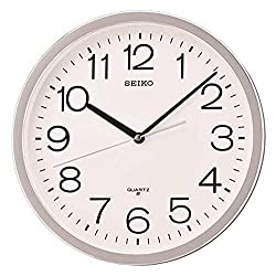 Seiko Classic Numbered Wall Clock, Silver