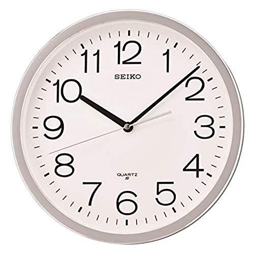 Seiko Reloj de Pared clásico numerado, Color Plateado