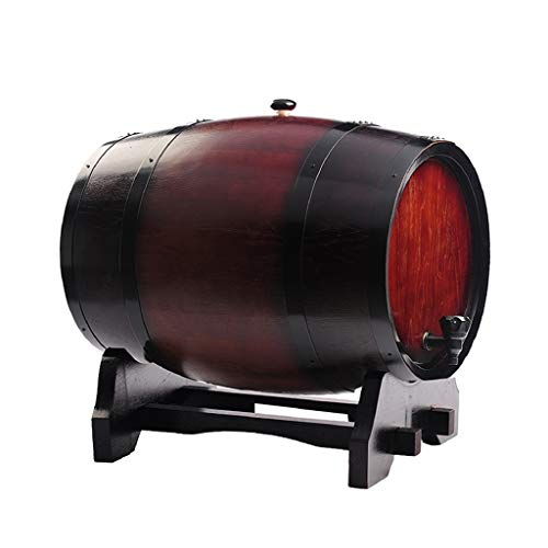 SGMYMX Dispensador de cerveza de barril de vino, barril de roble de 3 a 50 l, barril de brandy/whisky casero (capacidad: 50 L, color: rojo vino)
