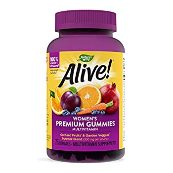 Nature s Way Alive! Women's Premium Gummy Multivitamin Full B Vitamin Complex 75 Gummies