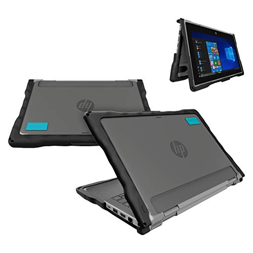 GumDrop DropTech Case Designed for HP PROBOOK x360 11 EE Laptop for K-12 Students, Teachers, Kids - Black, Rugged, Shock Absorbing, Extreme Drop Protection (HP ProBook x360 11 G5 and G6 EE)