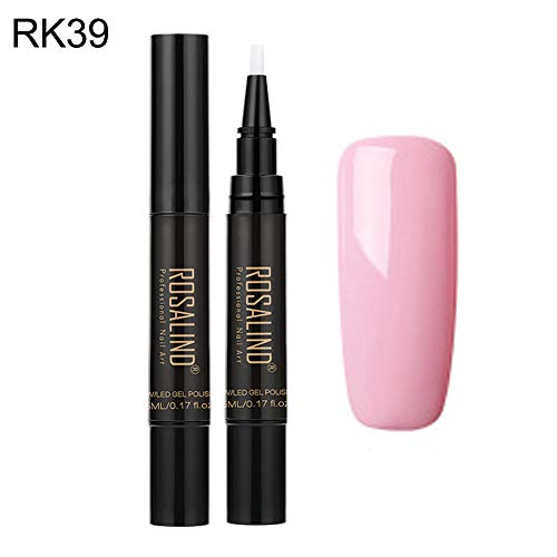 YSHtanj Manicure Soak Off Glanzende Effen Kleur Nagel Gel Poolse Pen Base Coat LED UV Lamp Lak Lang Lasting, Nagel Decor, Glanzend, Soak Off - 39#