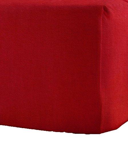 Amigozone Sábanas bajeras de franela de algodón cepillado 100 %, extraprofundas, 40 cm de grosor, algodón, Rojo, matrimonio